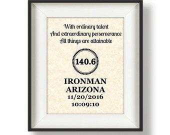 Ironman - Gifts for Runners - Triathlon - Marathon Gift - Half Marathon -  Personalized - Running Gifts - Boston Marathon - Ordinary Talent