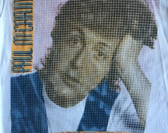 Paul McCartney Flowers in the Dirt 1990 World Tour Two Sided Concert T Shirt