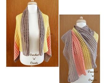Cotton Wrap Crochet Pattern (DOWNLOAD) CNC53