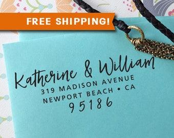 FREE SHIPPING custom address stamp, Self Inking Stamp, Rubber Stamp, Address Stamp, Christmas Gift, rsvp Address Stamp, Wedding Stamp 319