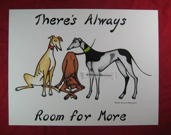 There's Always Room for More - Signed Greyhound Adoption Print