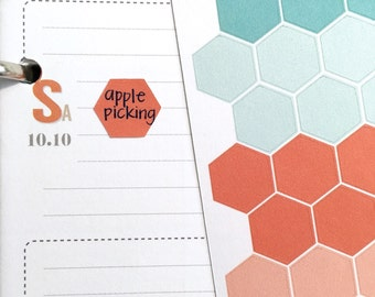 Hexagon stickers (inkWELL Press colors)