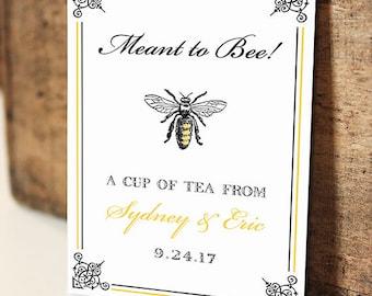 Meant to Bee Par-Tea Favors™ - #Wedding #Bridal #Shower #Favors