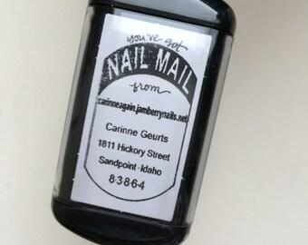 Self Inking NAIL MAIL Return Address Detail Stamp