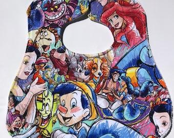 Disney sketchy bib