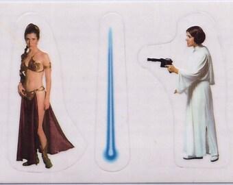 Rare 1996 Star Wars European Panini Sticker Princess Leia and Princess Leia s8