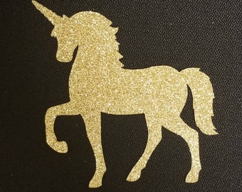 Glitter Unicorn Cutout