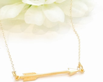 Gold Filled Arrow Necklace-
