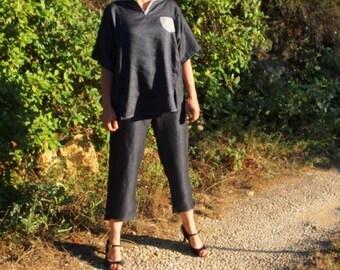 Pantalon et haut pour femme sur mesure, tissus au choix
