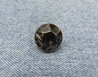 round claw-2 cm black rhinestones