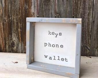 Valet Box, Men's Valet Tray, Boyfriend Gift, Rustic Valet Tray, Groomsmen Gift, Gift for Men, Catchall