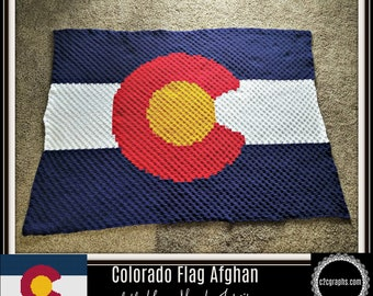 C2C Graph, Colorado Flag, Afghan, C2C Crochet, Graph, & Written Word Chart, Colorado Graph, Colorado C2C