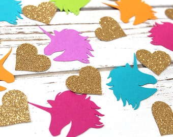 Unicorn Rainbow Glitter Confetti - Table confetti, Party Decorations