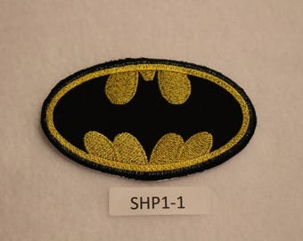 Embroidered Iron On Patch - Batman - Superhero - SHP1-1 - FREE SHIPPING in US