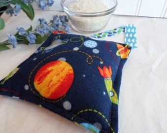 Boo Boo Bag / Hot Cold Rice Therapy Pack / Ready to ship / Planets and Spaceships