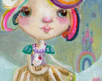Baby Cakes - original 4x8 by Mindy Lacefield