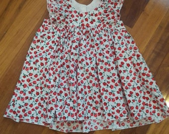 Rose flower matching set top with bloomers size 4 girls handmade unique boutique clothing summer spring floral