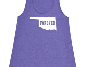 Oklahoma Forever Tank Top. Women's Tri Blend Racerback Tank Top SEEMBO