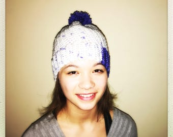 Crocheted Adult Pom Hat Assorted Colors