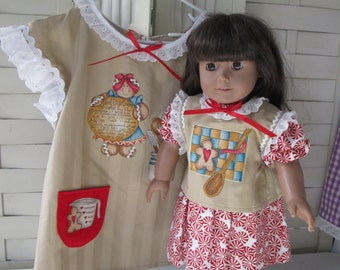 Gingerbread Aprons for Doll and Girl, fits American Girl doll