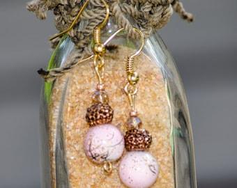 Pink Sand - Dangle Earrings