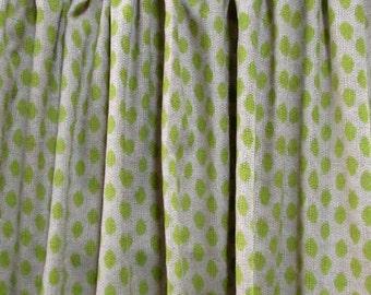 PAIR  LINED Drapes Sahara Honeydew Lacefield fabric