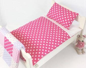 Pink Dotty Dolls Bedding Set