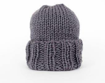Cuffed knitted beanie, men's beanie, men's hat, winter hat, hand knit beanie, knit hat, handmade hat