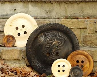 Enormous 14 Inch Wooden Button - Giant Wood Button - Huge Button - Big Button - Wedding Decor -  Guest Book