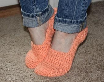 Crochet Slipper Socks//Slippers//All Colors and Sizes Avaliable
