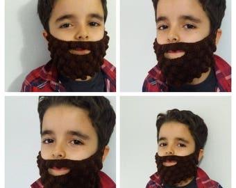 Brown color crochet beard