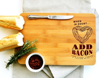 Bacon Cutting Board, Bacon, Gift for Dad, circle or rectangle.