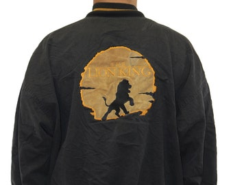 Vintage The Lion King Disney Store Bomber Jacket Size Large