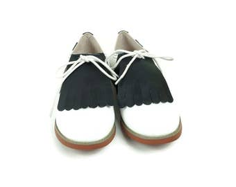 Matte Black Kilties for Ladies Golf Shoes, Golf Accessories, Shoe Decorations, Gifts for Golfers, Shoe Accessories, Swing Dance Shoes Ladies