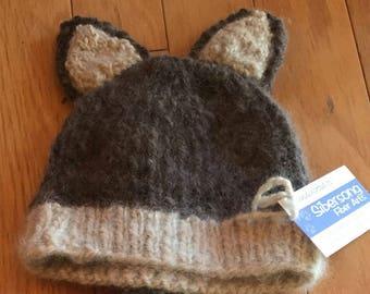 Husky/Wolf Ear Knit Hat