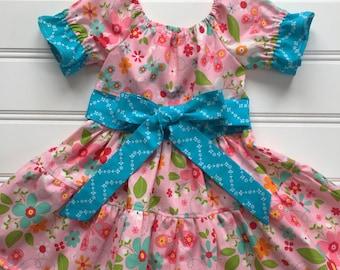 Summer Dress for Girl, Toddler Dress, Girl Party Dress, Girl Birthday Dress, Little Girl Dress, Pink Dress, Tiered Dress, Twirl Dress