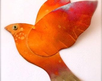 Turtle Dove Ornament Copper Bird Decoration