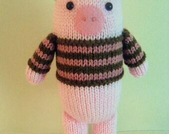 Sale - Amigurumi Knit Piggy Pattern Digital Download