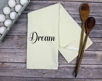 Kitchen Dish Towel - Tea Towel - Dream