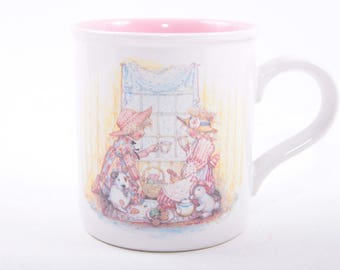 Collectible Mug, Holly Hobbie, Mother's Day, Gift for Mom, Special Moments, 1990, Ceramic ~ The Pink Room ~ 161110B