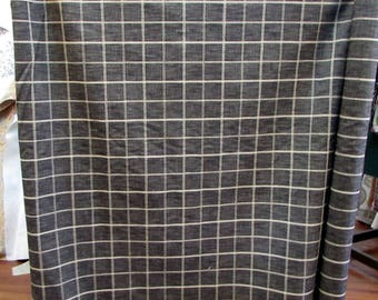 plaid RUSTIC WOVEN peppercorn Black, cream  multipurpose fabric
