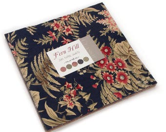 """Moda FERN HILL Layer Cake 2180LC 10""""x10"""" Fabric Squares By Jan Patek Quilts"""