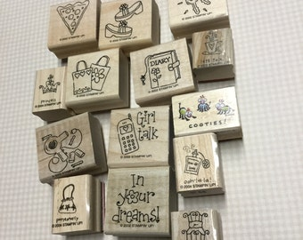 Mixed Girlie Girl Stamps - Lot of 14 - Different Stamps!