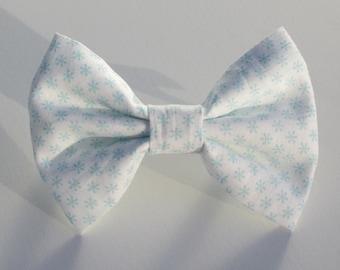 Robins Egg Blue Snowflake Bow Tie