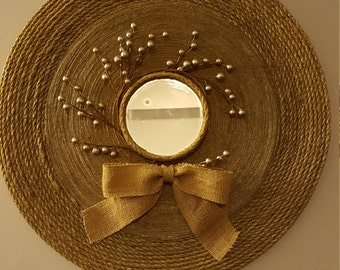 Decorative Round Rope Mirror