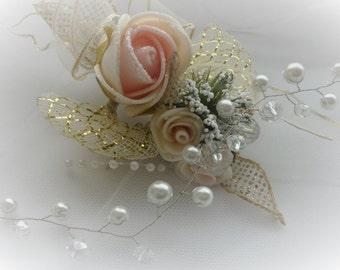 Baby's Breath Bridal Hair Vine, Silver Hair Vine, Crystal Hair Peice, Pearl Hair Vine, Bridal Jewelry, Fall Wedding, Long Hair Vine