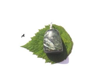 Seraphinite: rolled choice stone pendant