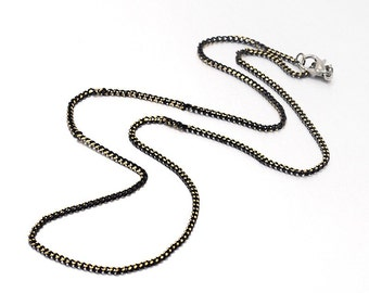 Finished Chain Necklace Wholesale Chain 20 Inch Chain Necklace Black Chain Necklace Gunmetal Necklace Chain Curb Chain Necklace