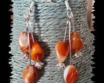 Dangle earrings 3 color amber