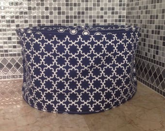 Navy Blue and White Oval Crock Pot Cover Slow Cooker Covers Small Appliance Cover Ready to Ship Free Shiping